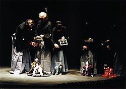 『摂州合邦辻』舞台写真